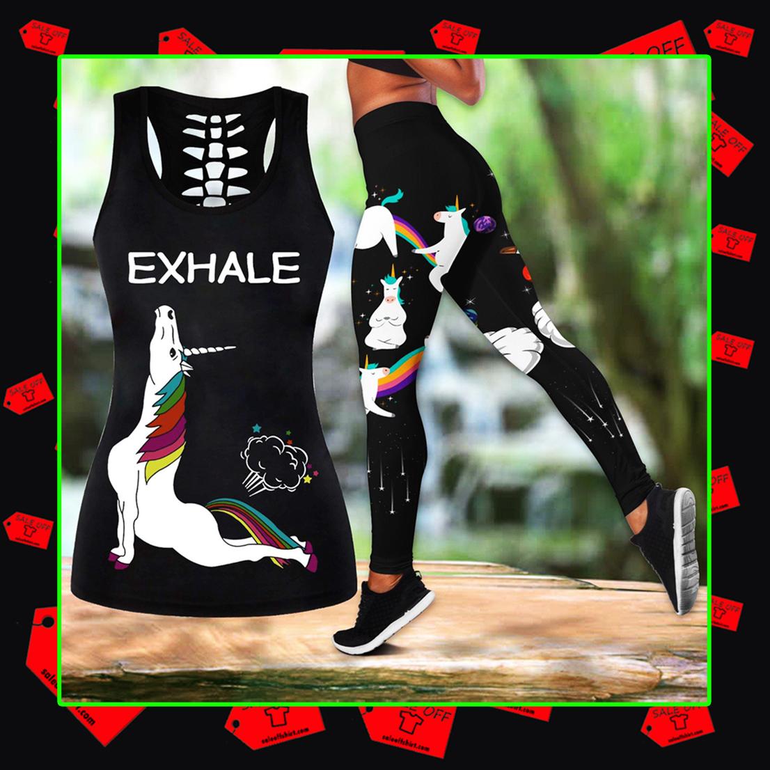 Combo Unicorn Yoga Tank Top And Legging 3D