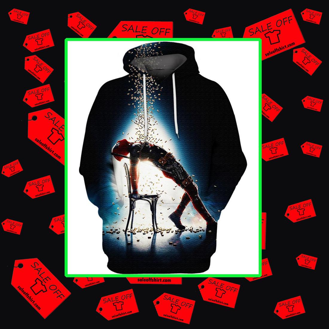 Deadpool flashdance bullet resistance 3d hoodie
