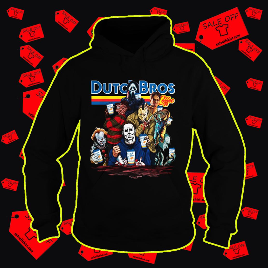 Dutch Bros Coffee Pennywise Michael Myers Freddy Krueger Jason Voorhees hoodie