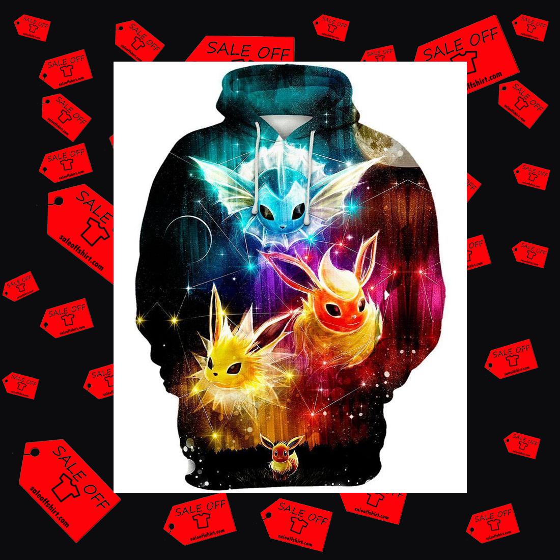 Eevee Evolution 3d hoodie