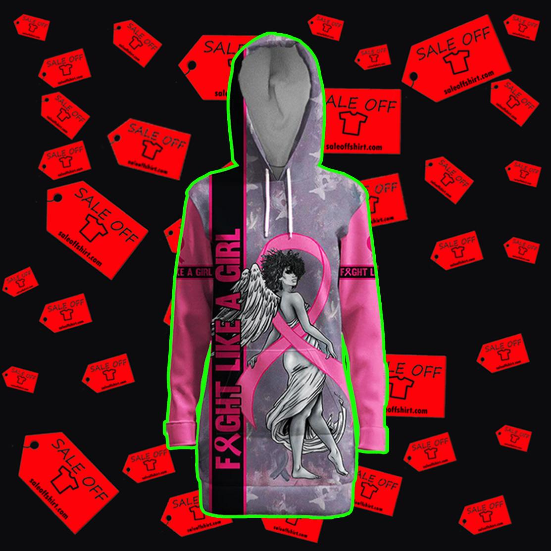 Fight Like A Girl Angel Breast Cancer Awareness Hoodie 3D, T-shirt 3D, Sweatshirt - Hooded dress 3D
