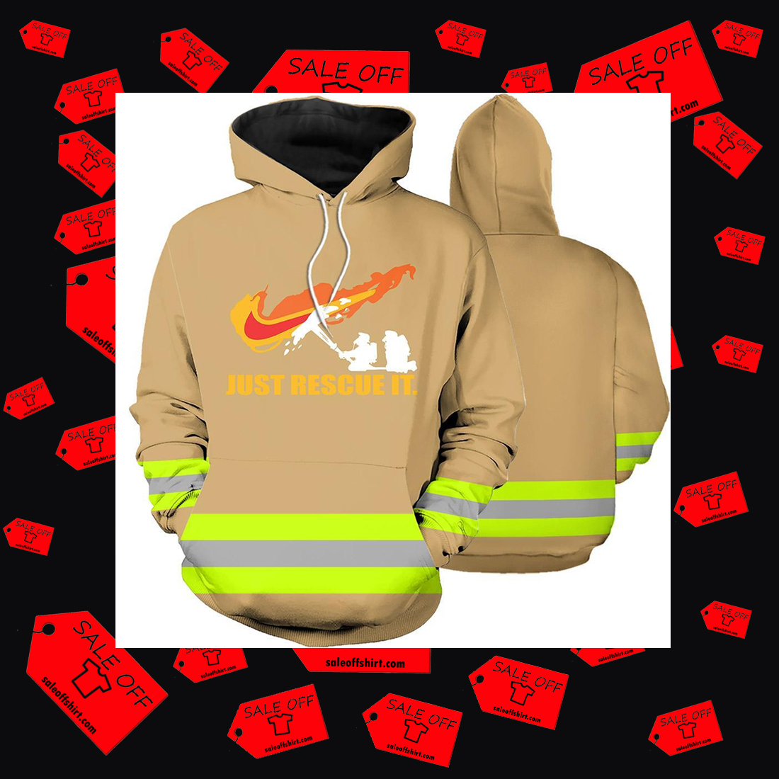 Firefighter Just Rescue It 3d hoodie
