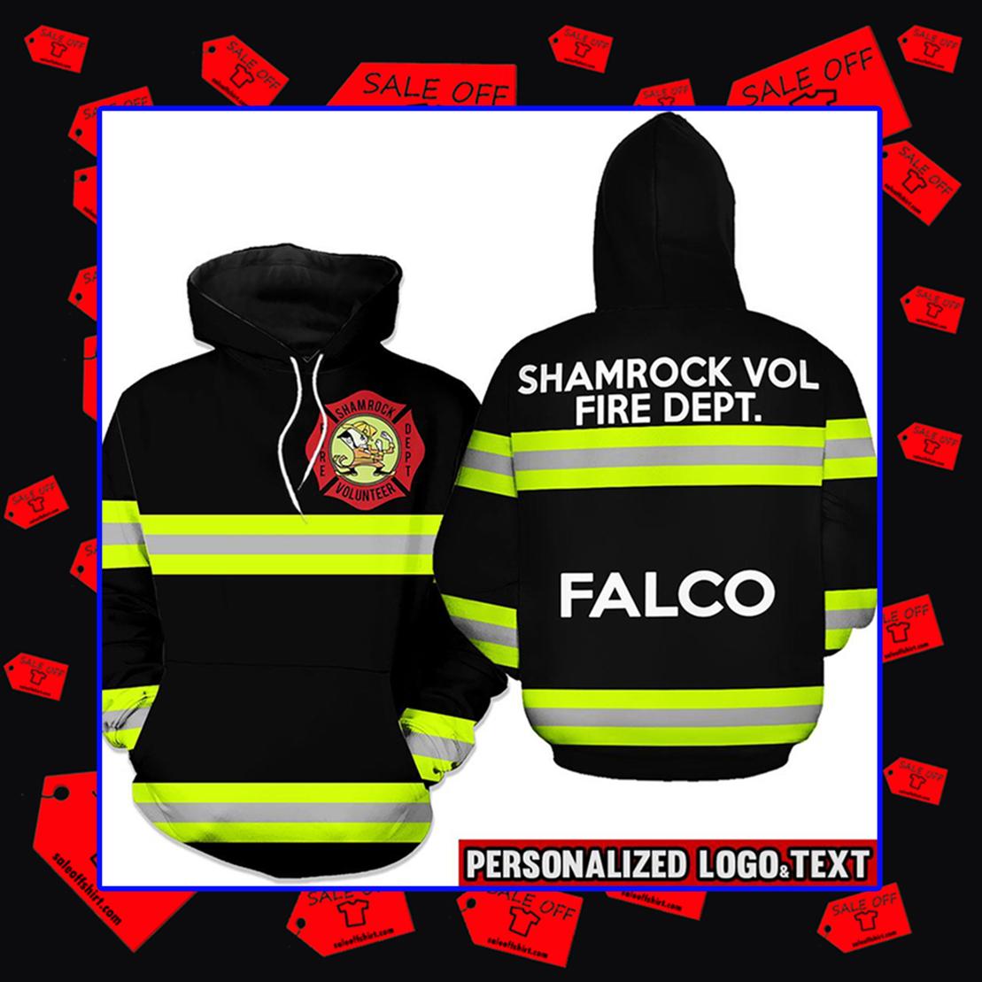 Firefighter Shamrock Volunteer Fire Dept. Falco Hoodie 3d - line green - black