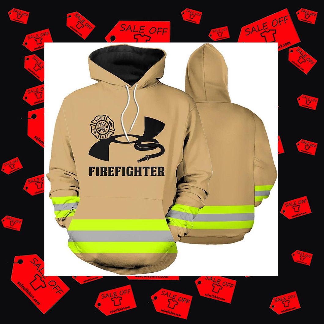 Firefighter skull Fire Courage Honor Rescue Hoodie 3D - UA