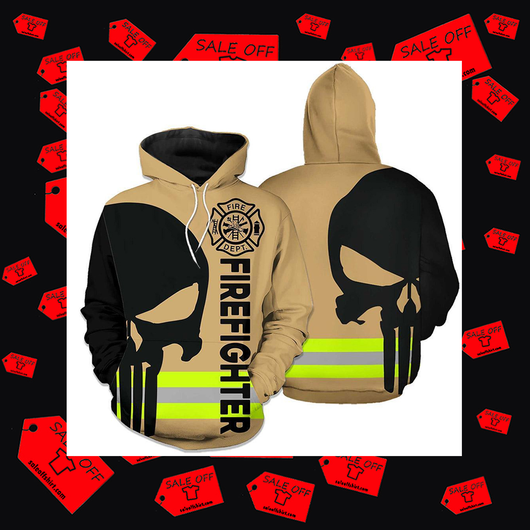 Firefighter skull Fire Courage Honor Rescue Hoodie 3D - skull