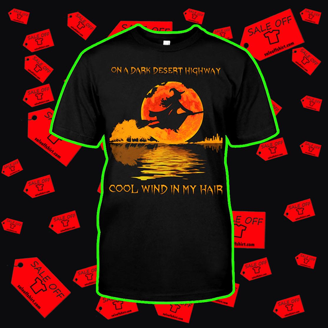 Halloween guitar On a dark desert highway cool wind in my hair shirt