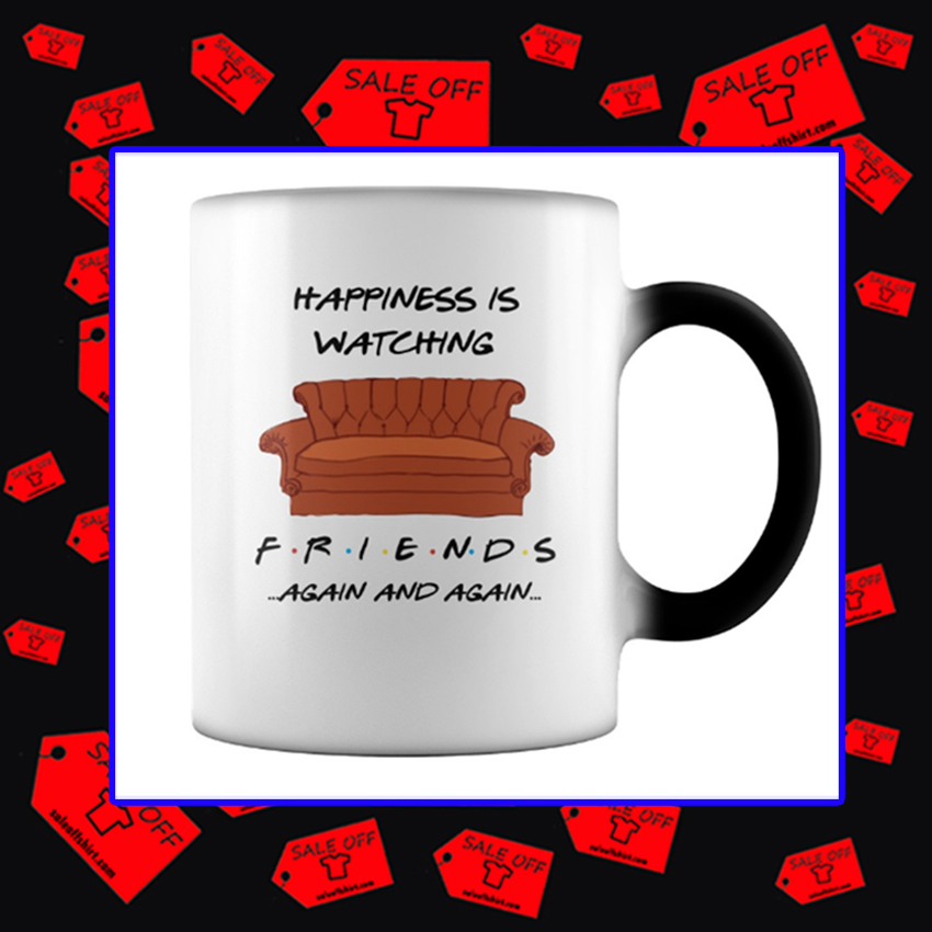 Happiness is Watching Friends Again and Again Mug - color change