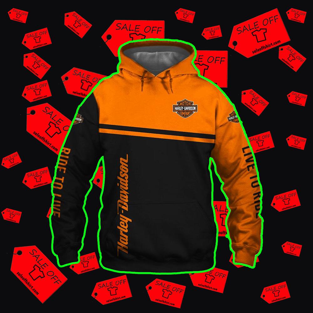 Harley-Davidson Snoopy hoodie 3d