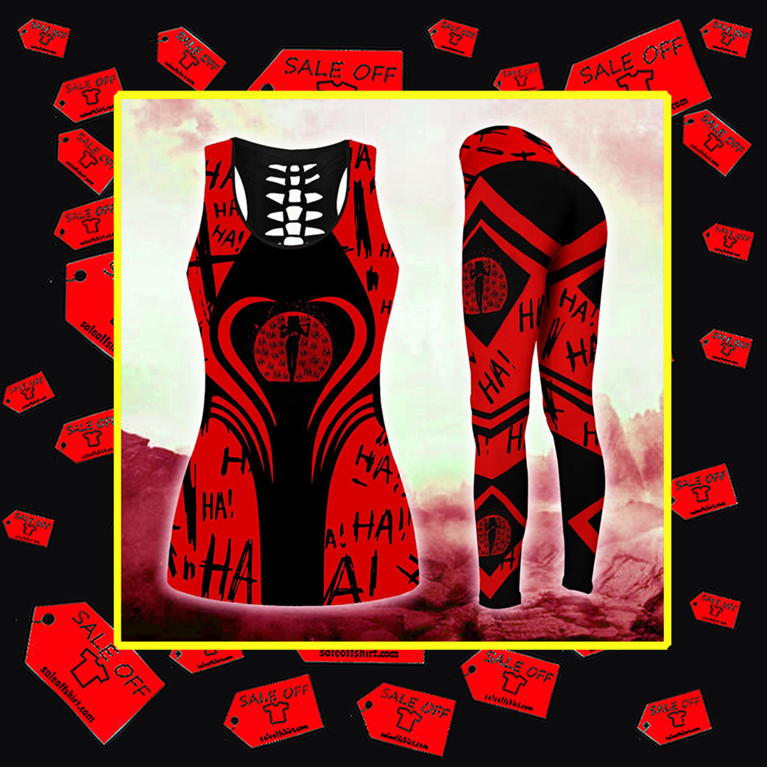 Harley Quinn Legging 3D Tank Top 3D