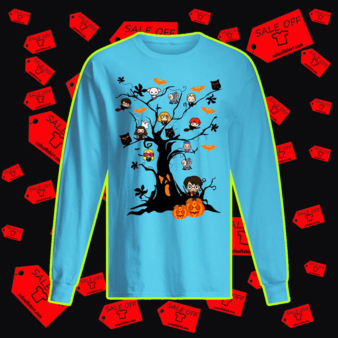 Harry Potter halloween tree long sleeved t-shirt