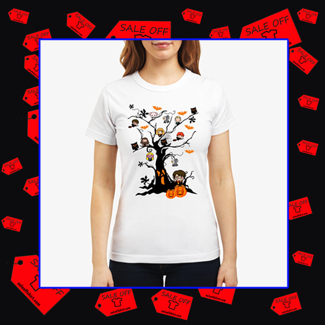 Harry Potter halloween tree shirt