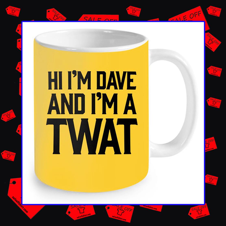 Hi I'm Dave and I'm A Twat Neon Yellow Mug - yellow