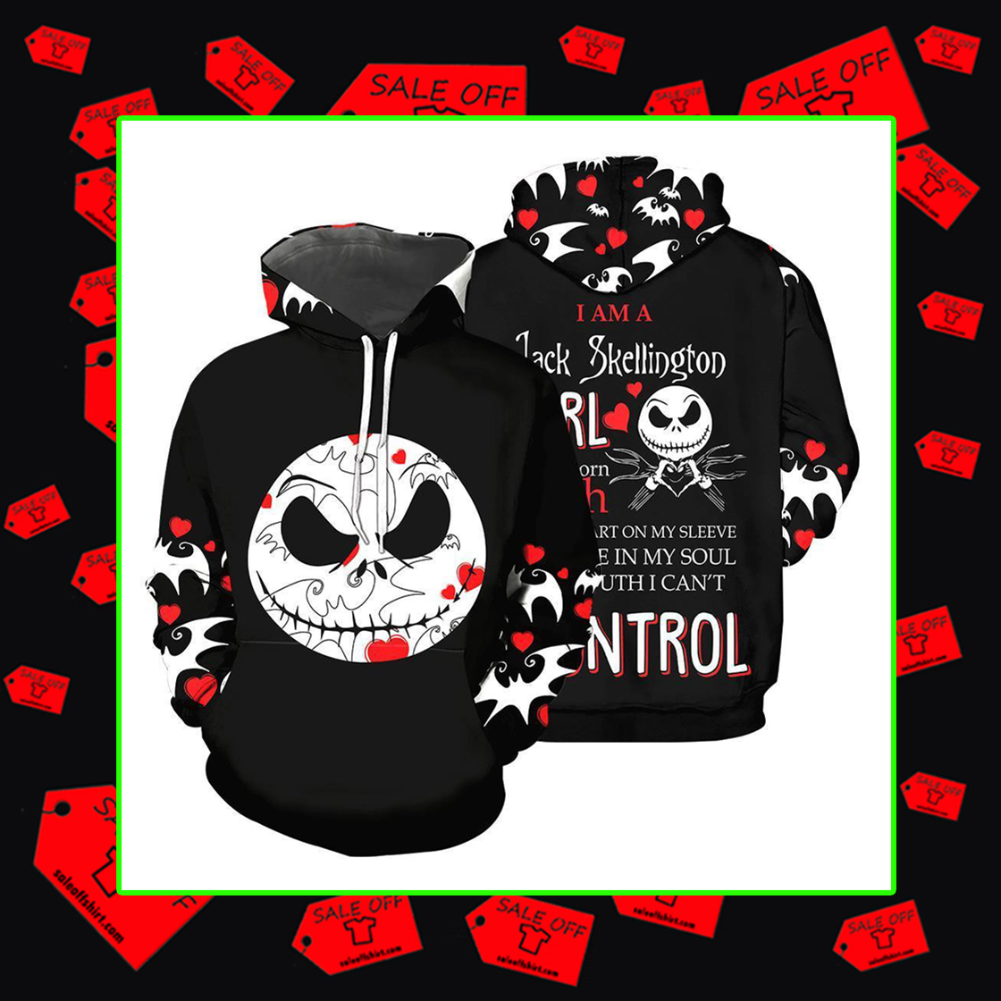 I am a Jack Skellington Girl Hoodie 3d,