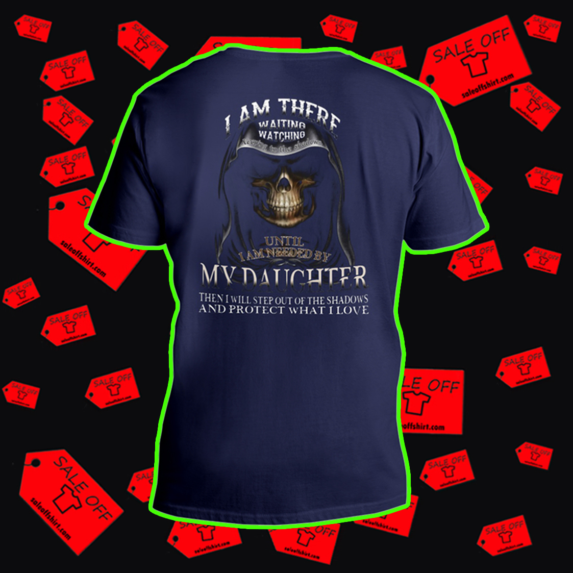I am there waiting watching keeping to the shadows until I'm needed by my daughter v-neck