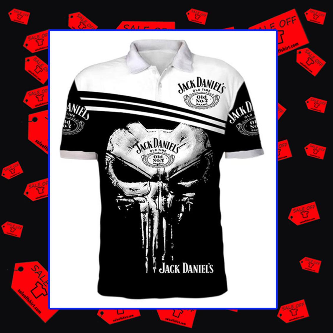 Jack Daniel's Punisher Skull Polo 3d