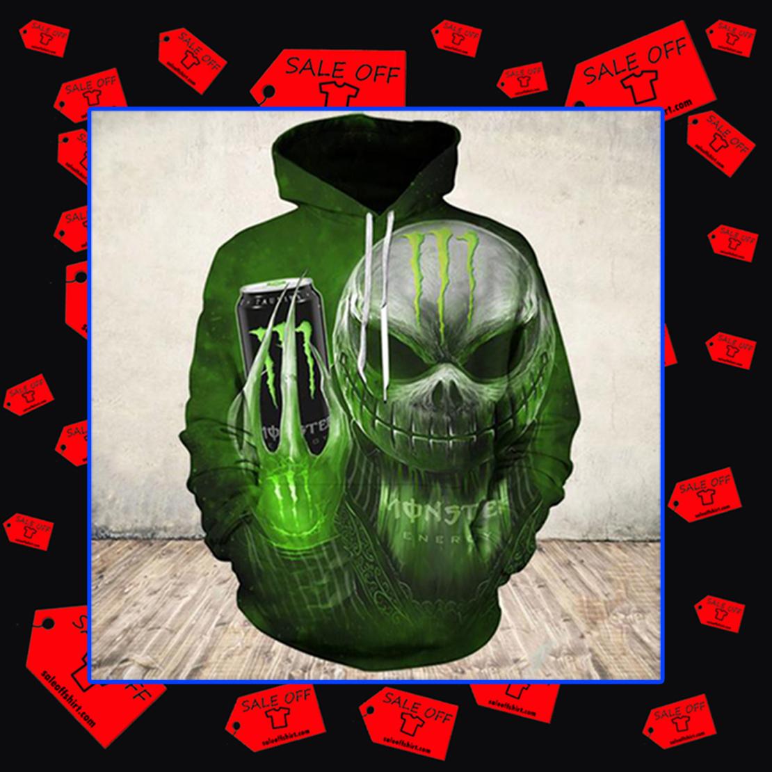 Jack Skellington Monster Energy Hoodie 3D