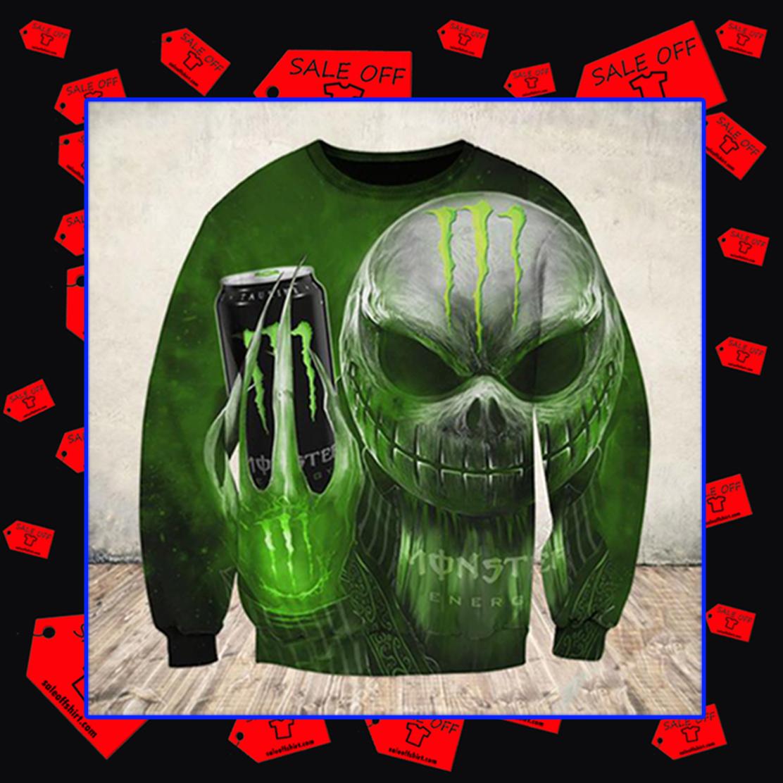 Jack Skellington Monster Energy Sweatshirt 3D
