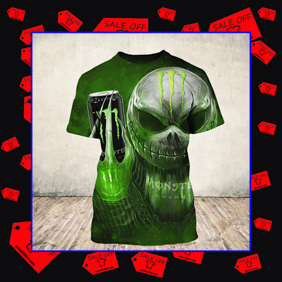 Jack Skellington Monster Energy shirt 3D