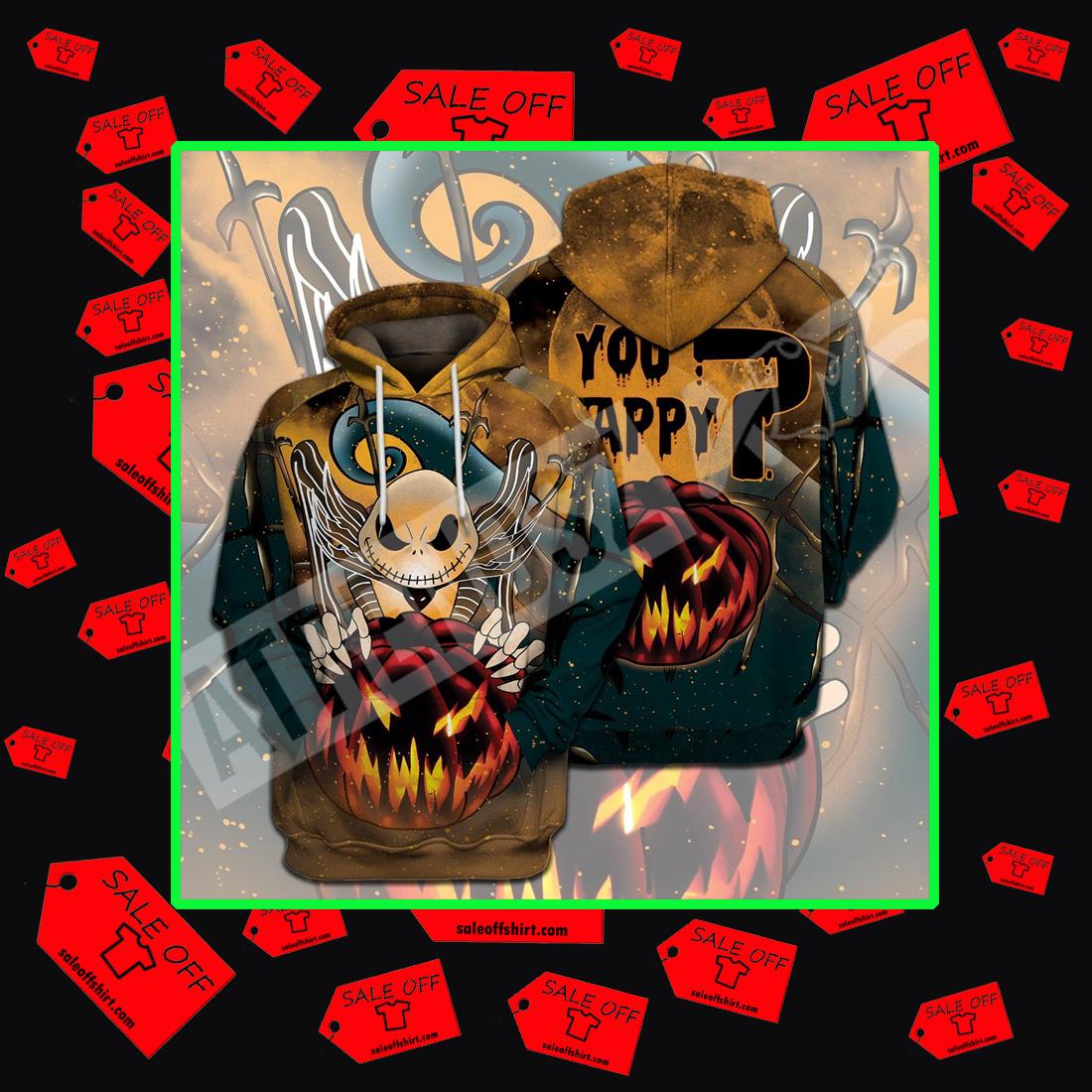 Jack Skellington you happy halloween full print 3d hoodie