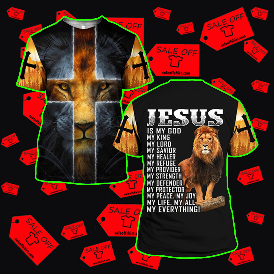 Jesus is my God my King my Everything shirt 3d