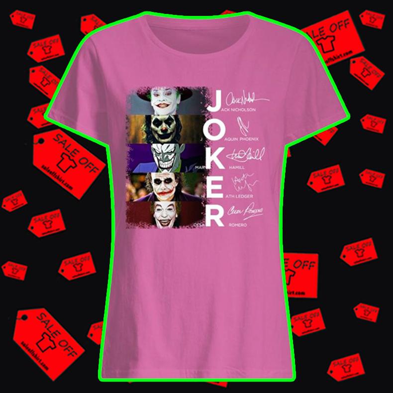 Joker All Version Signatures women's t-shirt