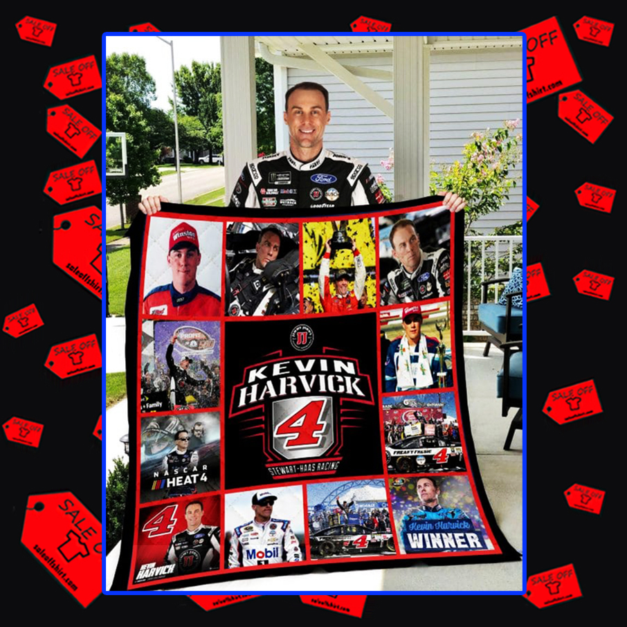 Kevin Harvick 4 Stewart-Haas Racing quilt blanket - full 69x79 inhches inches