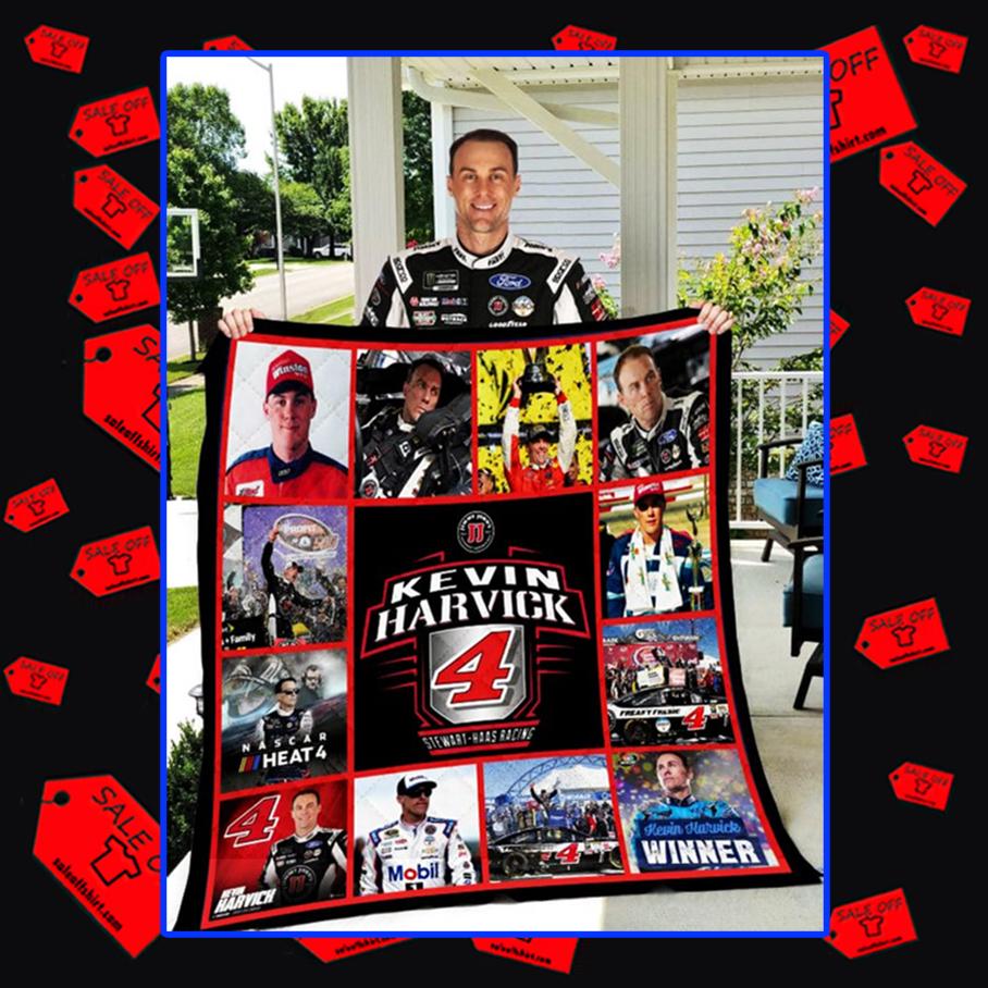 Kevin Harvick 4 Stewart-Haas Racing quilt blanket