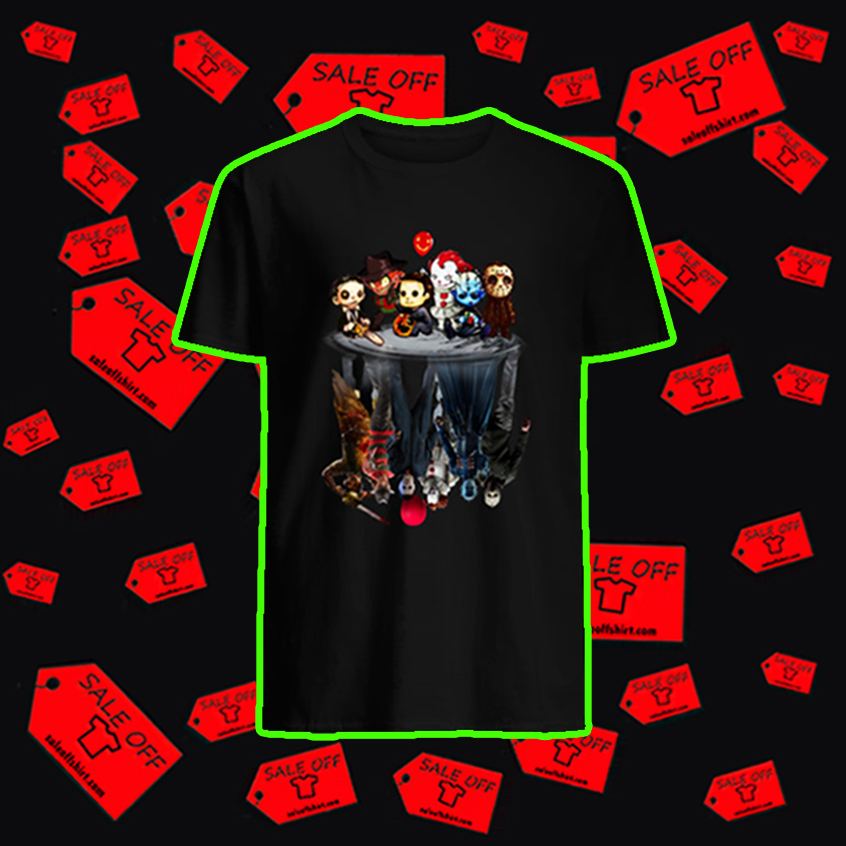 Leatherface Freddy Krueger Michael Myers Pennywise Pinhead Jason Voorhees reflection shirt