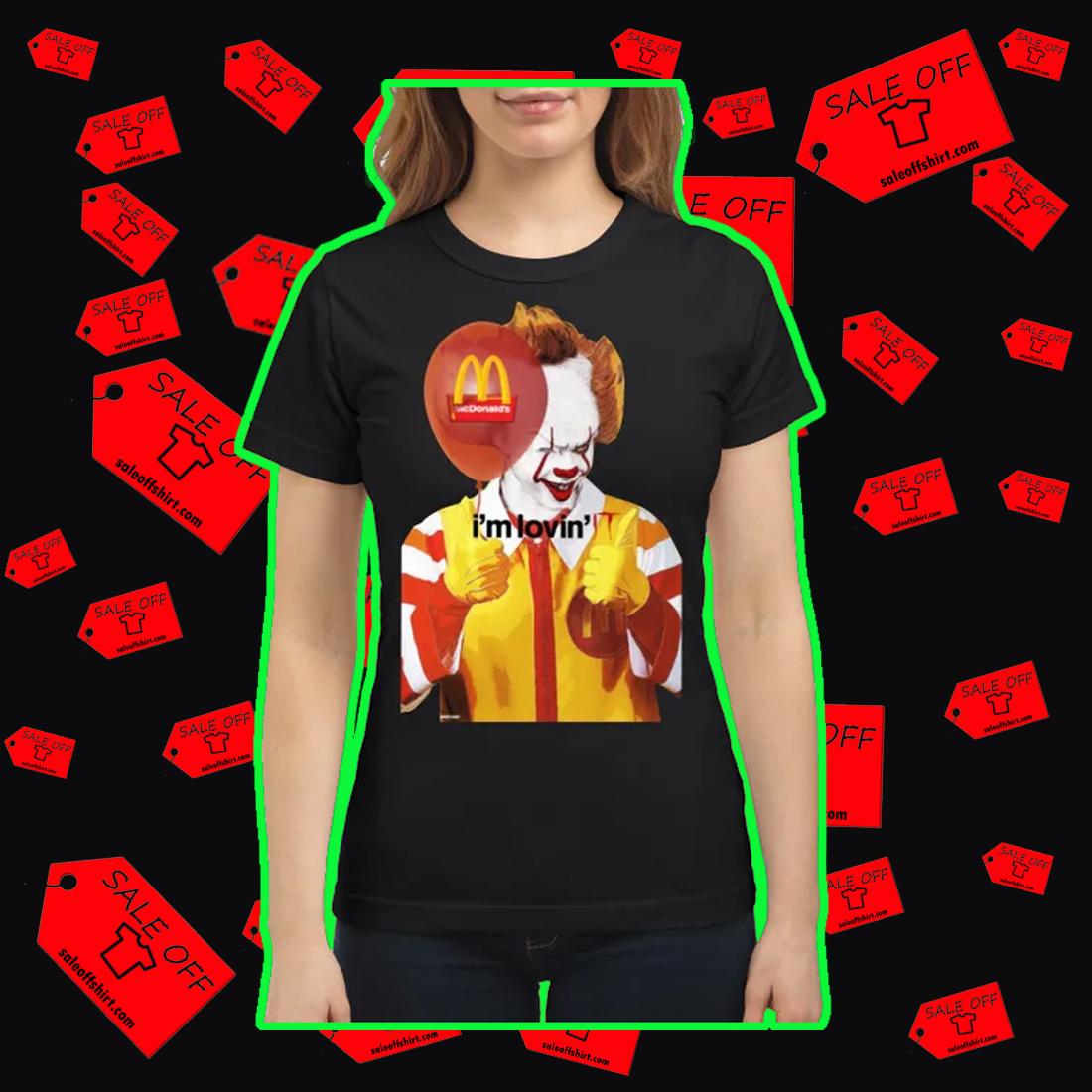 Mcdonald's I'm Lovin' IT shirt