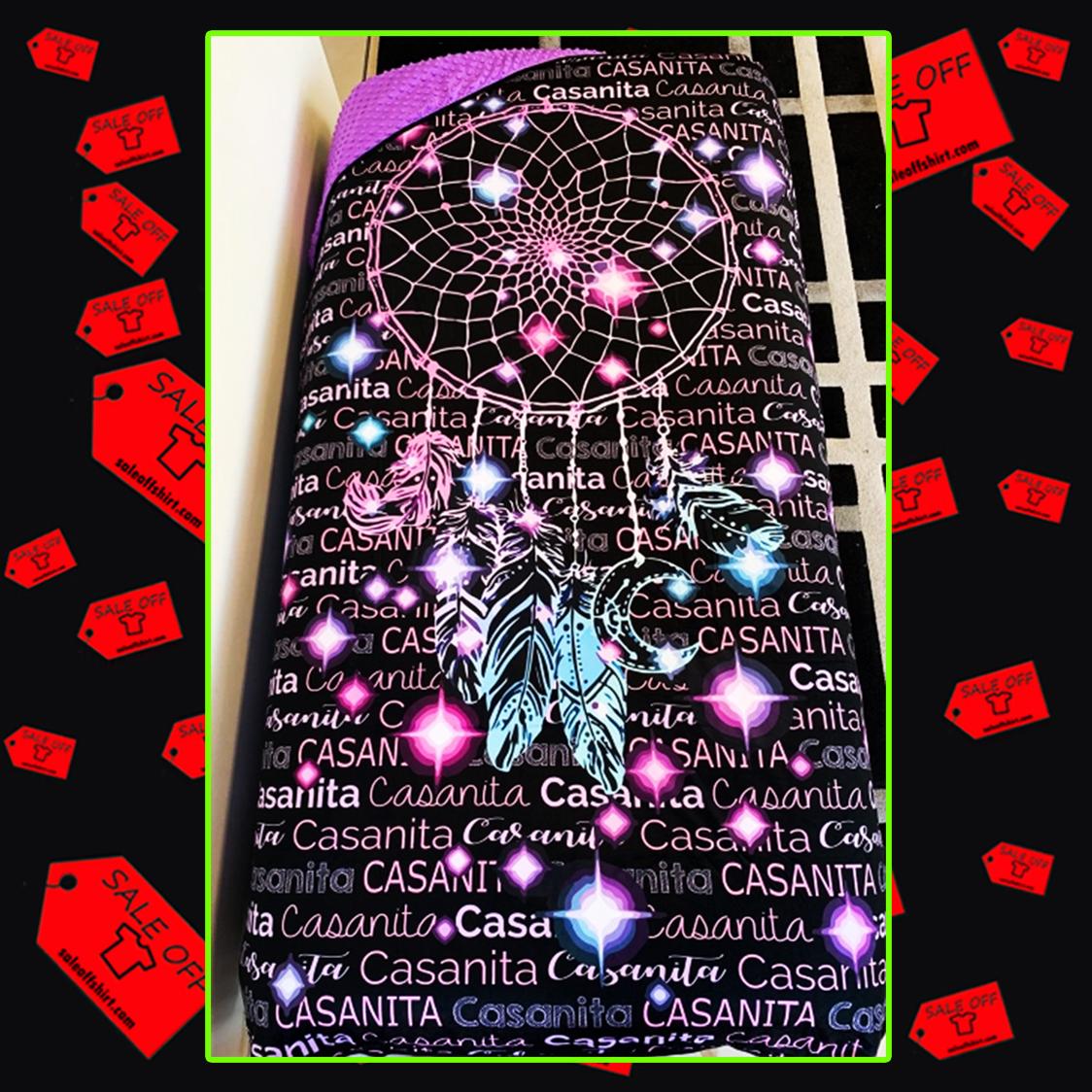 Midnight Dream Catcher Personalised Mink Blanket - queen (70x80 inches)