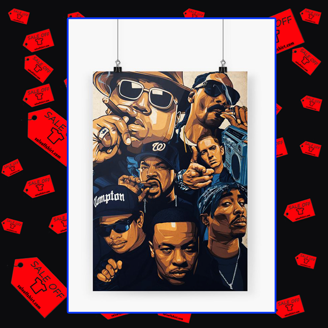 Notorious BIG Snoop Dogg Ice Cube Eminem Tupac Poster A3 (30x42)