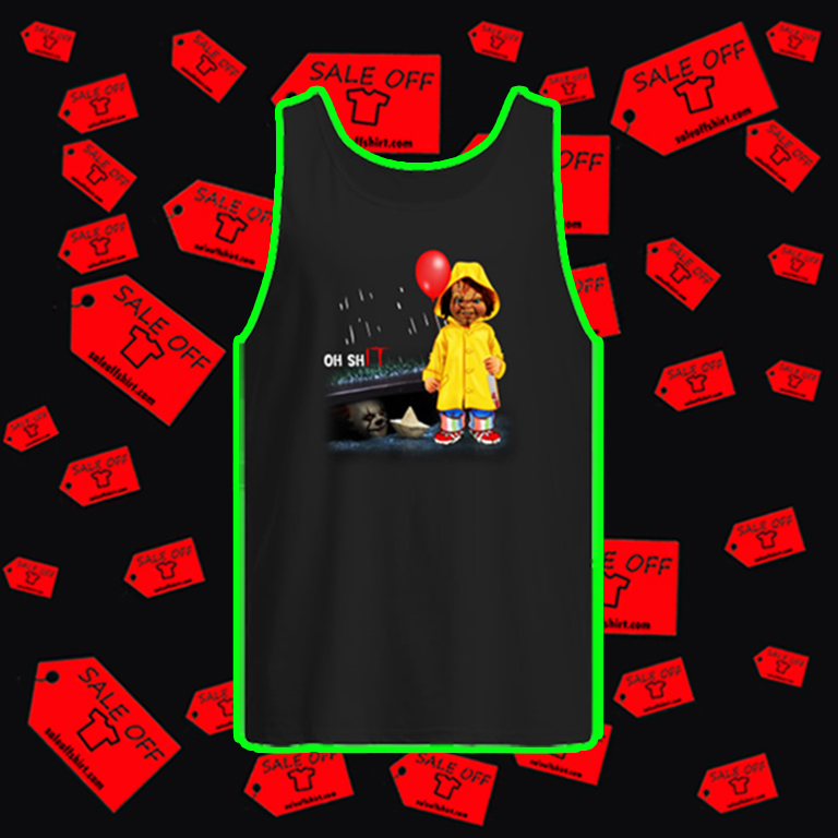 Pennywise and Chucky Oh Shit IT tank top