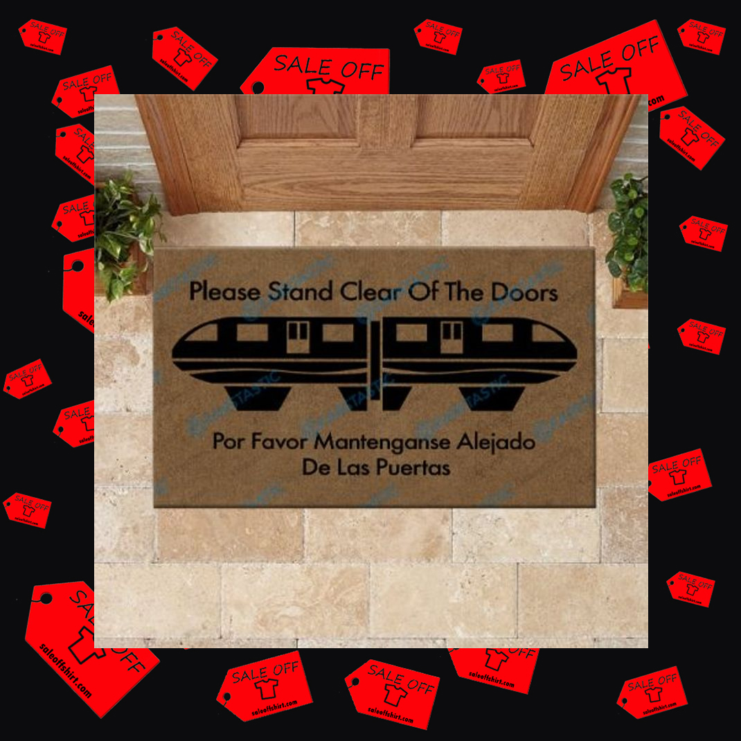 Please Stand Clear Of The Doors Doormat - large
