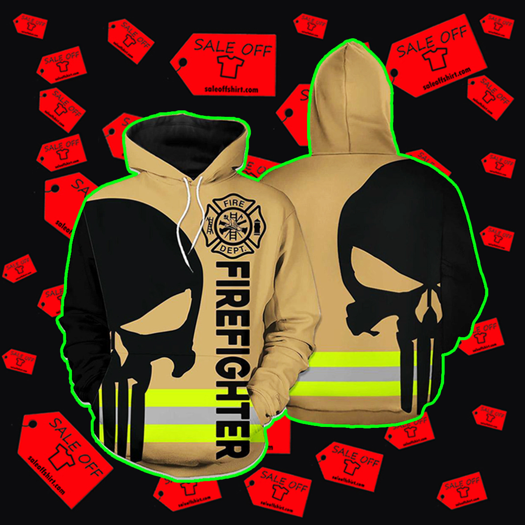 Punisher Skull Firefighter Hoodie 3d