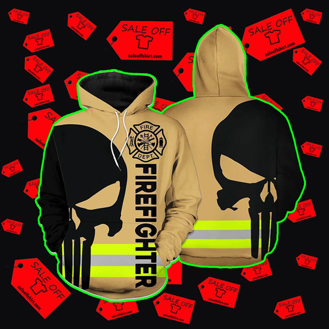 Punisher Skull Firefighter Hoodie 3d