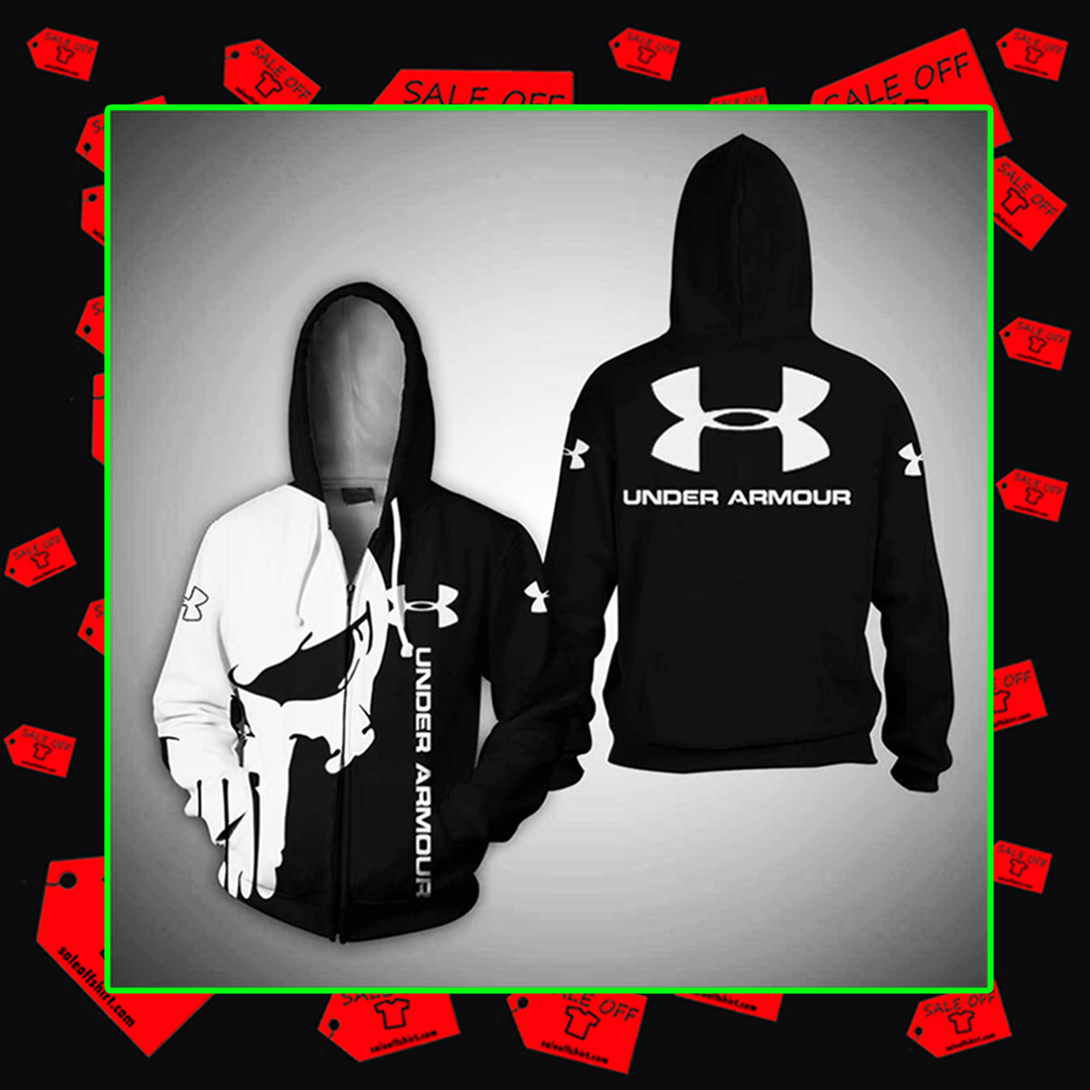 Punisher Skull Under Armour hoodie zipper 3d