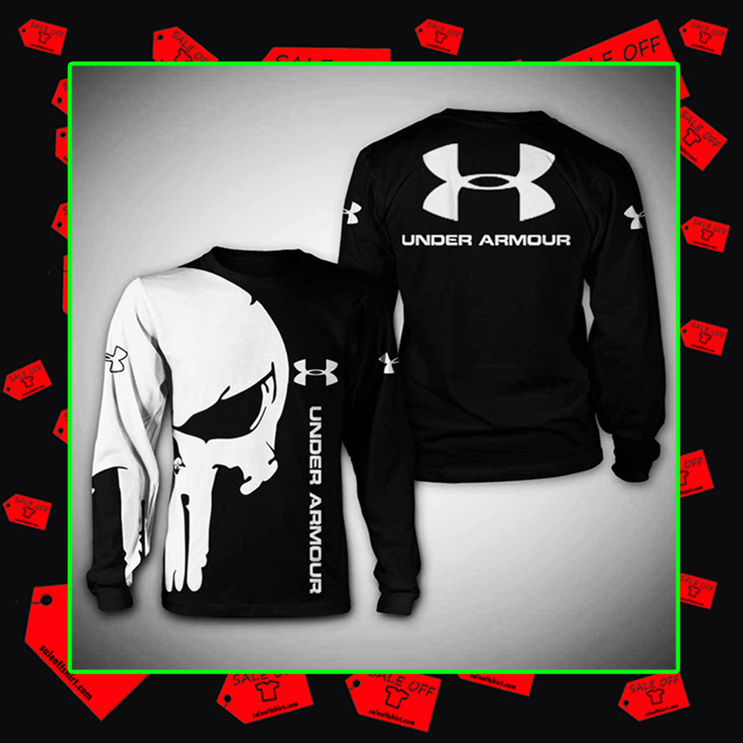 ® (Sale Off) Punisher Skull Under Armour hoodie 3d