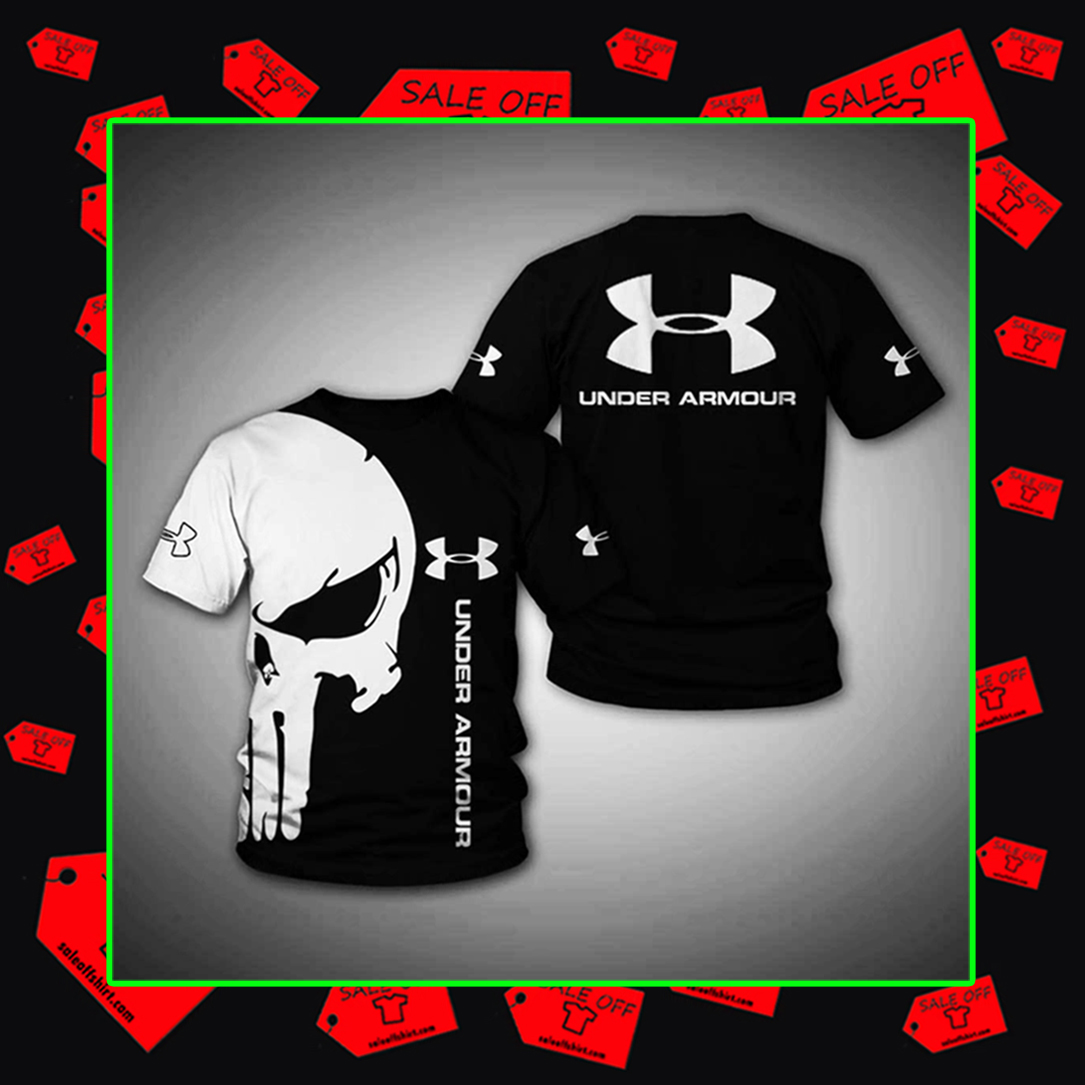 ™ (Official Design) Punisher Skull Under Armour hoodie 3d