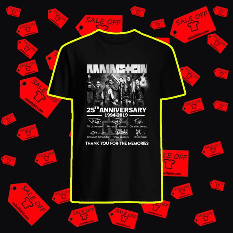 Rammstein 25th anniversary shirt