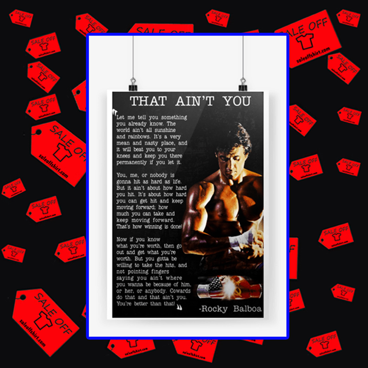 Rocky Balboa that ain't you poster A4 (210 x 297mm)