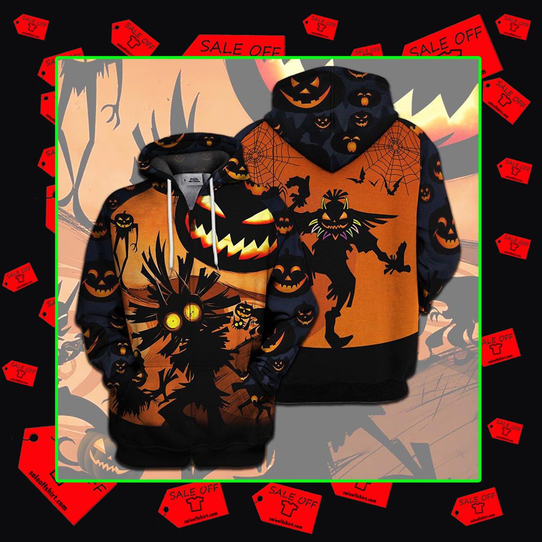 Skull Kid Halloween 3d hoodie zip