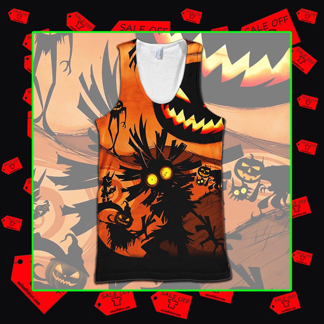 Skull Kid Halloween 3d tank top