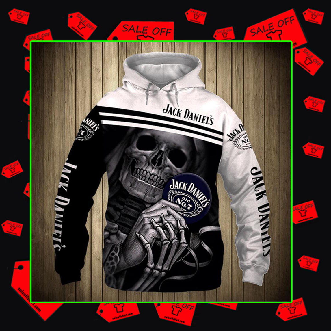 Skull Skeleton Jack Daniel's Hoodie 3D, T-shirt 3D, Zip Hoodie 3D