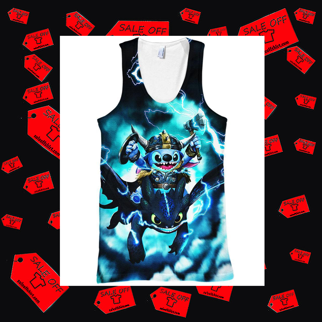 Stitch and Toothless tank top 3D