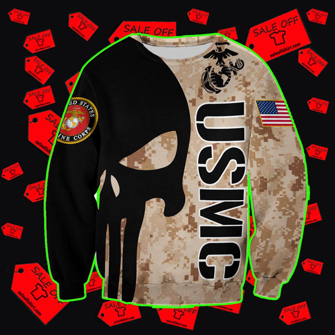 USMC Punisher Skull Sweatshirt 3D