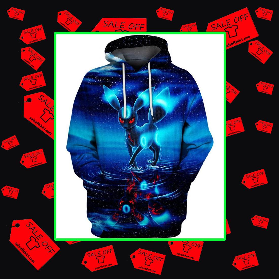 Umbreon pokemon 3d hoodie