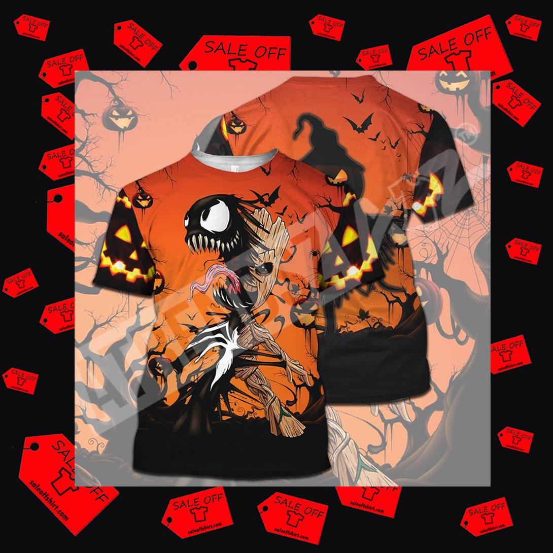 VenGroot Venom Groot Halloween Full Printing t-shirt 3D