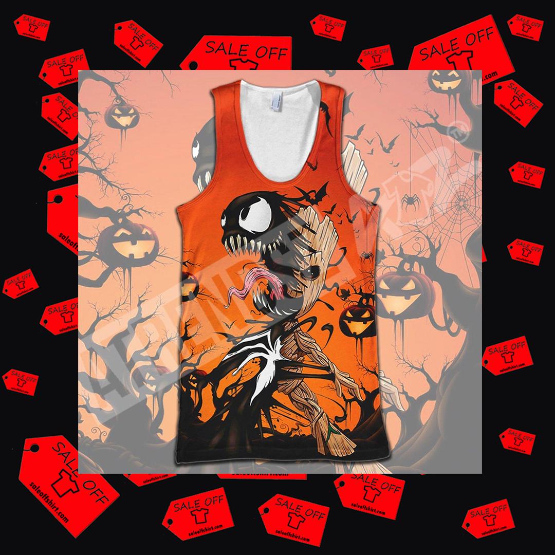 VenGroot Venom Groot Halloween Full Printing tank top 3D