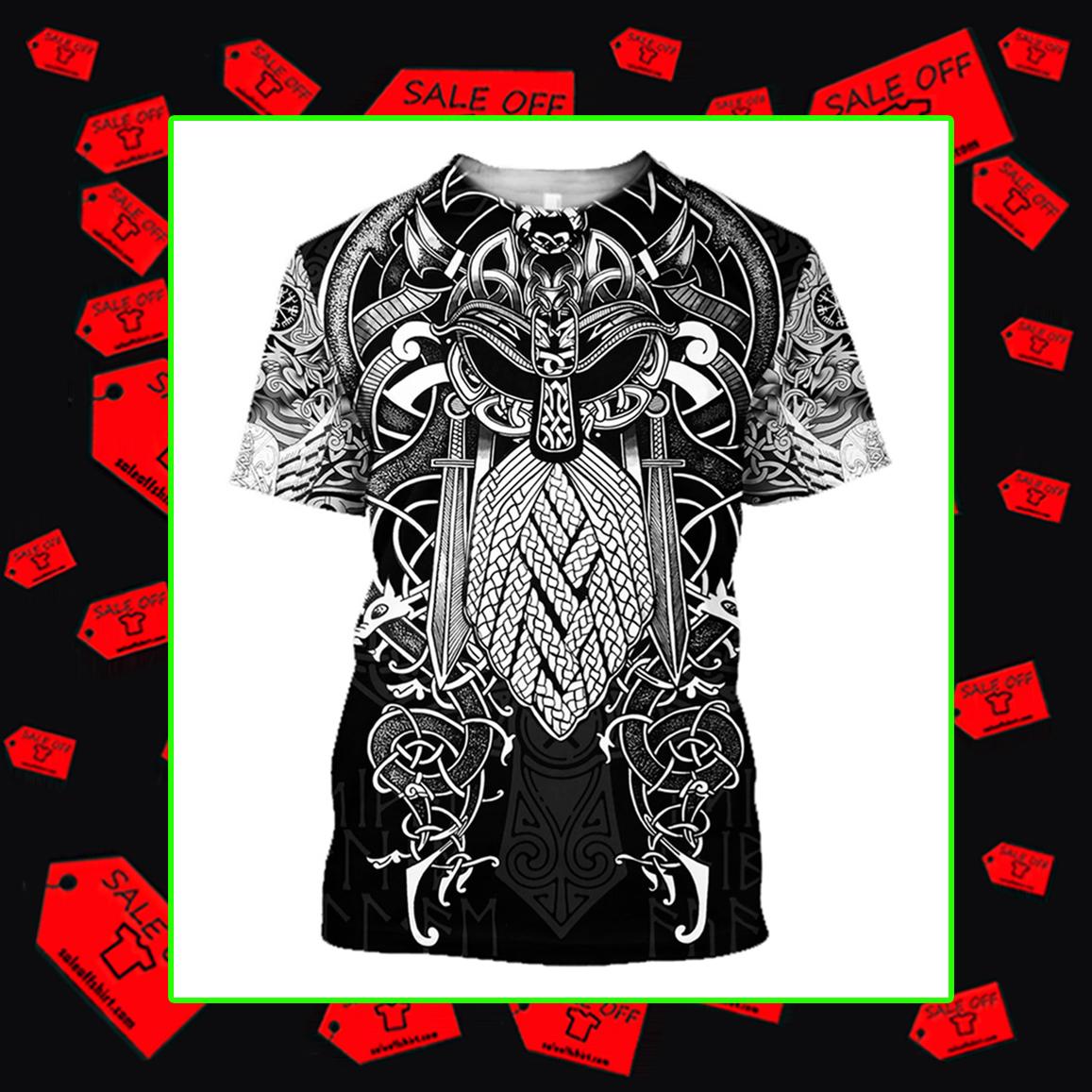 Vikings Odin T-shirt 3D