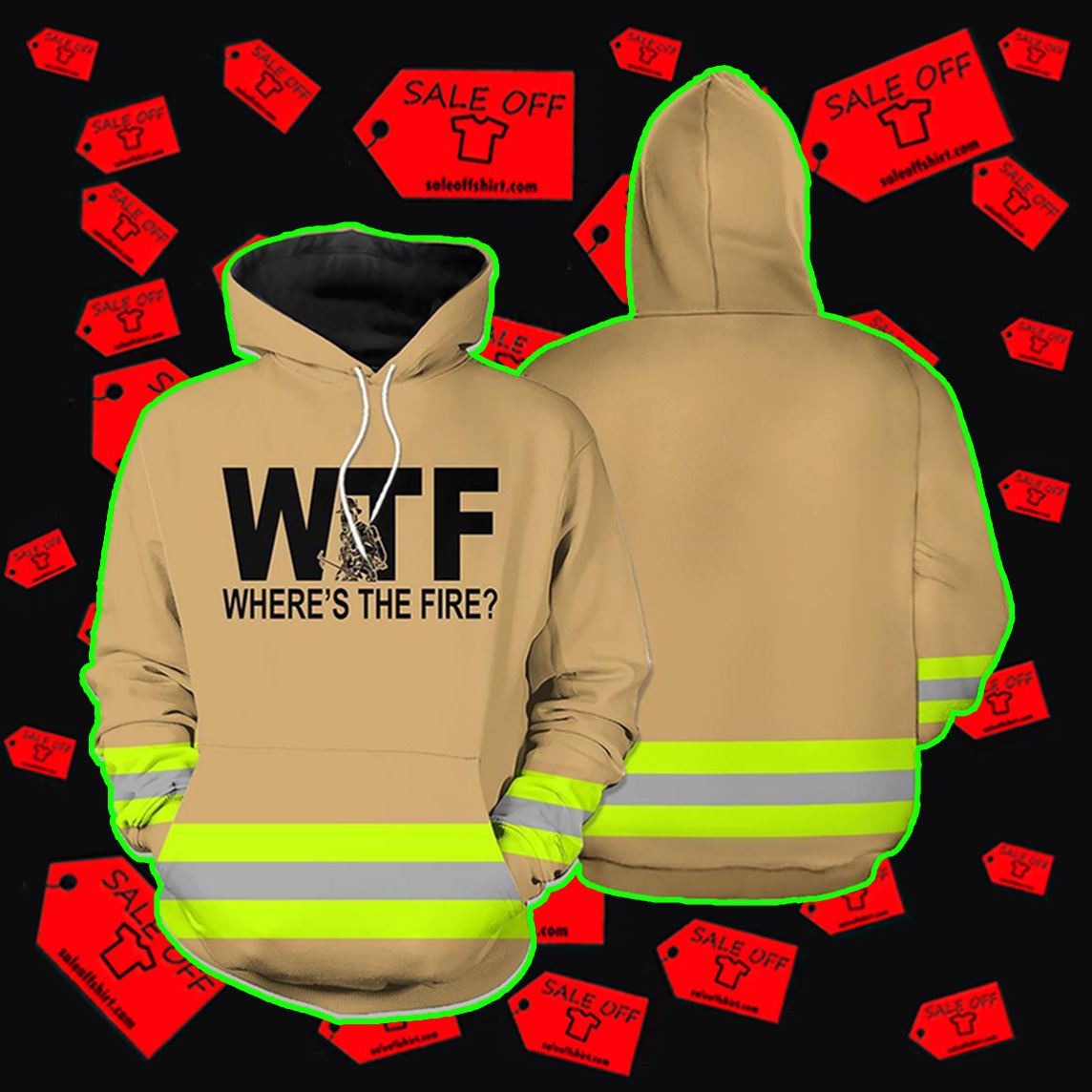 Where's The Fire Firefighter 3D Hoodie